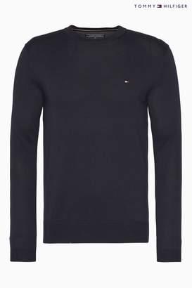 Next Mens Tommy Hilfiger Core Cotton Silk Crew Neck Sweater