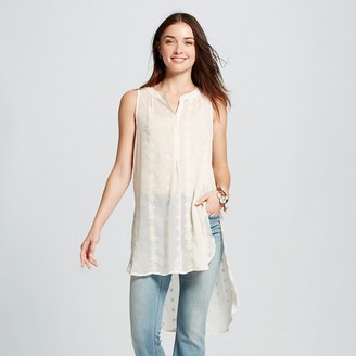 Knox Rose Women's Button Down Tunic Tank $26.99 thestylecure.com