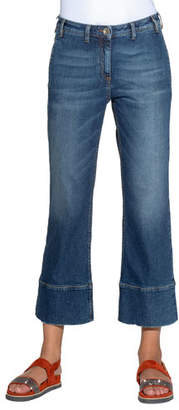 Eleventy Cropped Flare Jeans