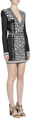 Balmain Women's Long-Sleeve Animal Jacquard Dress