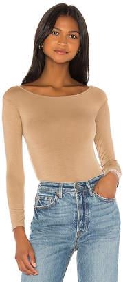 Enza Costa Long Sleeve Off Shoulder Bodysuit