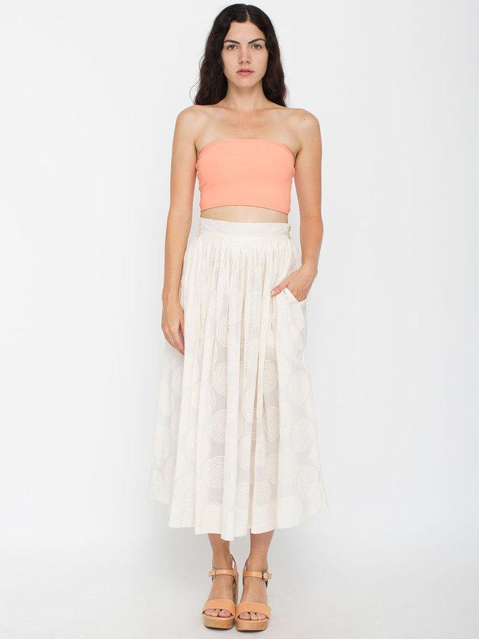 Esprit Vintage Swirl Print Pleated Mid-Length Skirt