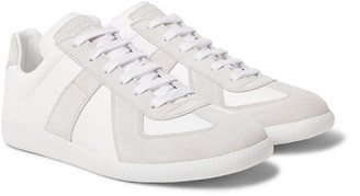 Maison Margiela Replica Suede and Leather Sneakers - Men - Off-white
