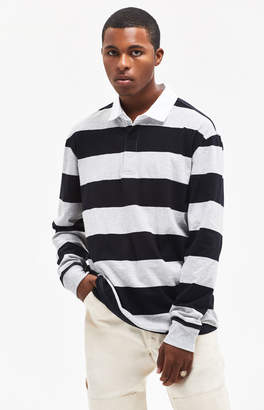 PacSun Steven Stripe Long Sleeve Polo Shirt