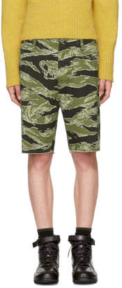 Wacko Maria Green Jungle Army Shorts