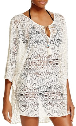 Lucky Brand Fly Away Lace Caftan Swim Cover Up $84 thestylecure.com
