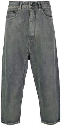 Rick Owens cropped loose jeans