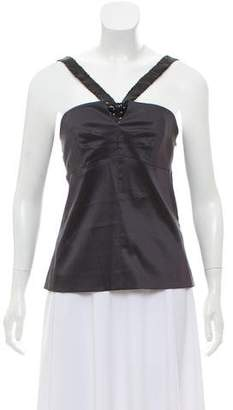 Philosophy di Alberta Ferretti Sequin-Accented Sleeveless Top