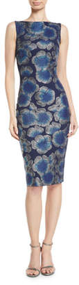 Chiara Boni Derya Sleeveless Mosaic Floral-Print Dress