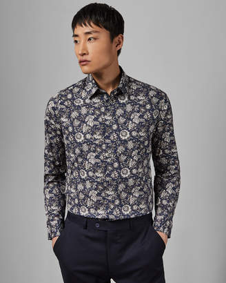 Ted Baker RIGATO Floral printed cotton shirt