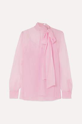 Valentino Pussy-bow Chiffon Blouse - Pink