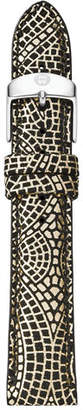 Michele 16mm Printed Leather Watch Strap, Golden/Multi