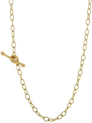 Cathy Waterman 16-in. Tiny Lacy Chain Necklace - Yellow Gold