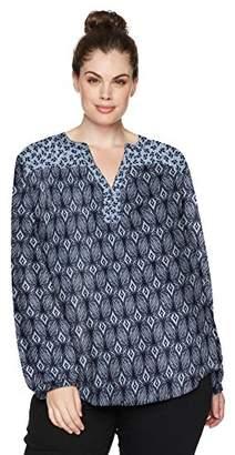 ab07d0429ed at Amazon.com · NYDJ Women s Plus Size Print Mix Peasant Top