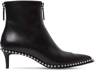 Alexander Wang 50mm Eri Low Studded Leather Ankle Boots