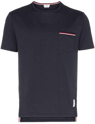 Thom Browne Rwb Pocket Trim Short-Sleeve Tee