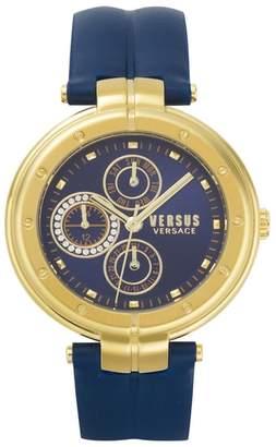 Versus By Versace VERSUS Versace Bellville Leather Strap Watch, 38mm