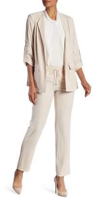 Modern American Designer Pinstripe Drawstring Pants