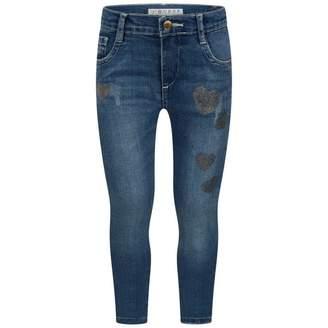 GUESS GuessGirls Blue Denim Glitter Heart Jeans