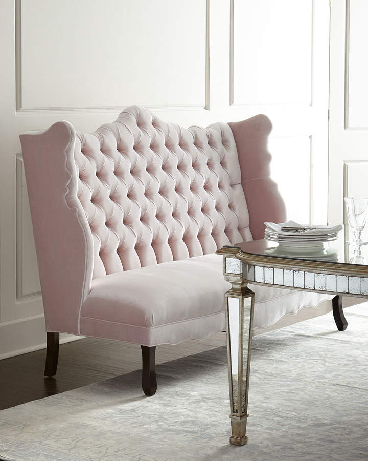 haute house isabella blush banquette shopstyle dining chairs. Black Bedroom Furniture Sets. Home Design Ideas