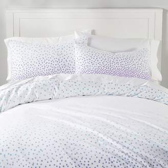 Pottery Barn Teen Cascading Stars Organic Flannel Duvet Cover, Full/Queen, Ombre Blue