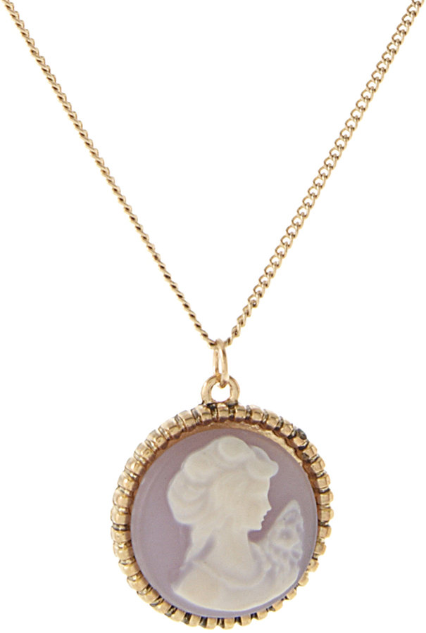 ASOS Ditsy Pastel Cameo Pendant On Long Chain