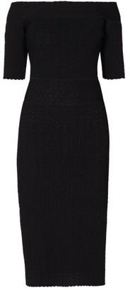 Altuzarra Stansfield Off The Shoulder Knitted Midi Dress - Womens - Black