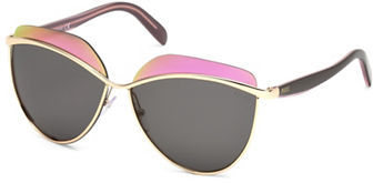 Emilio Pucci Emilio Pucci 60MM Flash Lens Geometric Sunglasses