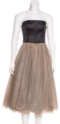 Brunello Cucinelli Strapless Silk Dress