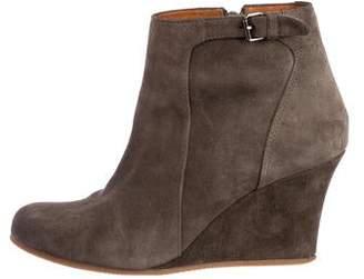 Lanvin Suede Ankle Boots