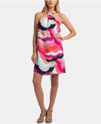 Trina Turk Trina Printed Halter-Neck Shift Dress