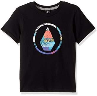 Volcom (ヴォルコム) - (ボルコム)VOLCOM [ キッズ ] 半袖 プリント Tシャツ (ロゴプリント) 【 Y3531730 / Magneticstone SSTYTH 】 ロゴT 子供服 かわいい Y3531730 BLK BLK_ブラック 5