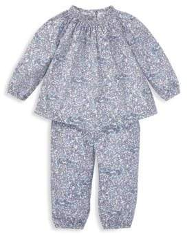 Ralph Lauren Baby Girl's Two-Piece Blouse& Pants Set