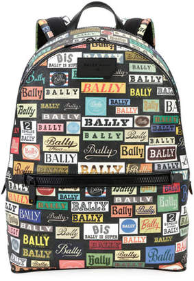 Bally Men's Gattes Logo-Print Backpack