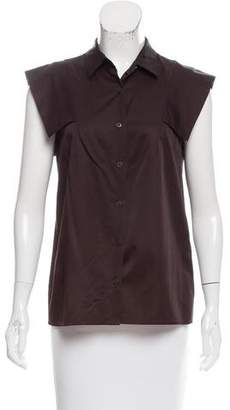Dries Van Noten Cap Sleeve Button-Up Top