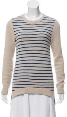 Derek Lam Striped Knit Sweater Tan Striped Knit Sweater