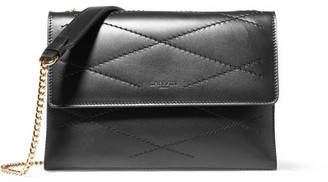Lanvin - Sugar Mini Quilted Leather Shoulder Bag - Black $1,495 thestylecure.com