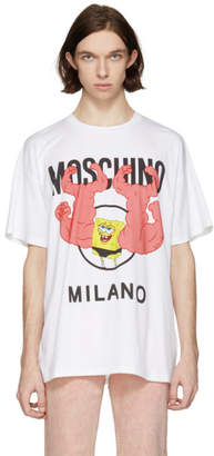 Moschino White Spongebob T-Shirt