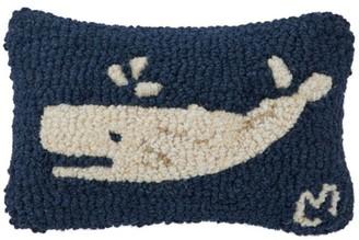 L.L. Bean L.L.Bean Wool Hooked Throw Pillow, Spouting Whale