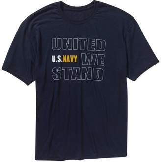 Americana Big Men's Military Officially Licensed United We Stand Performance Comfort Wear Graphic Tee, 2XL