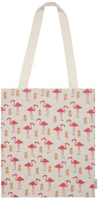 Fenella Smith - Flamingo & Pineapple Tote Bag