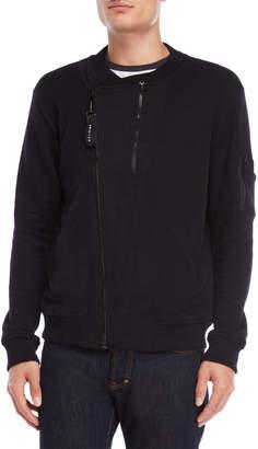 Religion Zip-Up Knit Bomber Jacket
