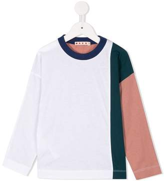 Marni colour block jersey top