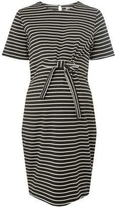 Dorothy Perkins Womens **Maternity Black Striped Shift Dress