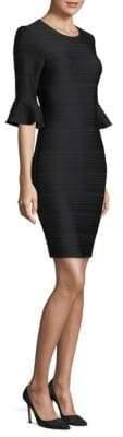 Shoshanna Bell-Sleeve Sheath Dress