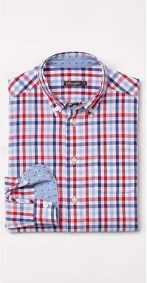 J.Mclaughlin Boys' Carnegie Shirt in Tattersall Check