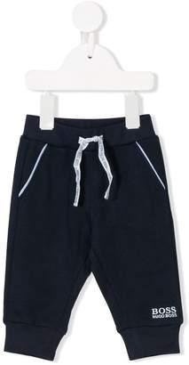 Boss Kids contrast-trim track pants