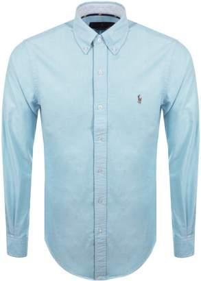 Ralph Lauren Slim Fit Oxford Shirt Blue