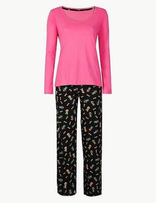 Marks and Spencer Pure Cotton Pineapple Print Pyjama set