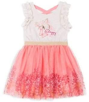 Little Lass Little Girl's Floral Graphic Dress